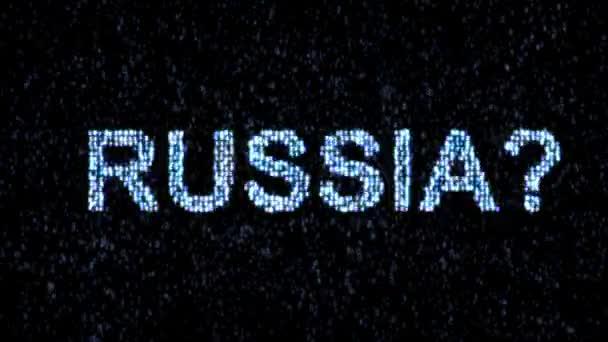 Russian hackers. Danger in the Internet. Malicious code hacker.