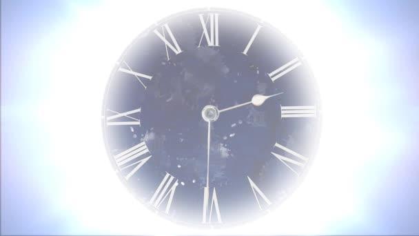Prostor a čas. Rychlé přesouvání hodiny s mnoha částic