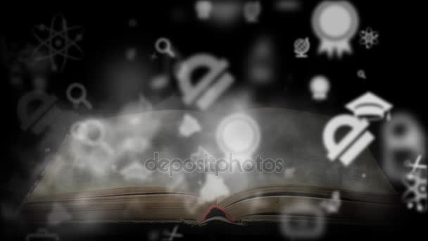 Book training concept. A book with a lot of knowledge