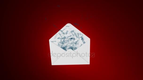 E-mailových virů. útok prostřednictvím globální sítě