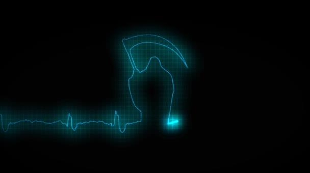 Herz Attask. Kardiogramm eines erkrankten Herzens