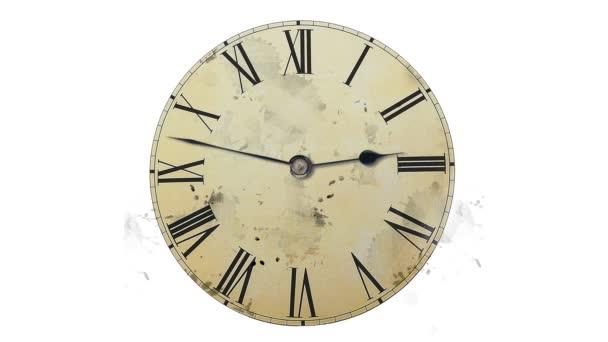Clock speeds up arrows on white background
