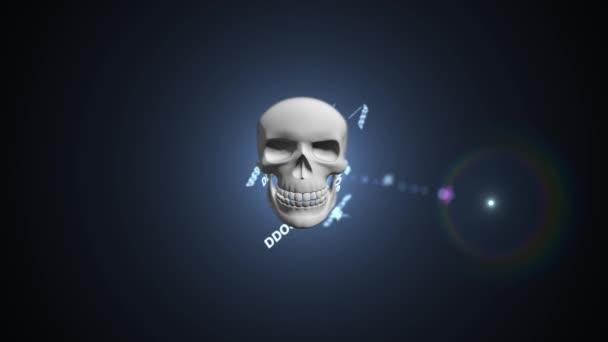 Il concetto di attacco di hacker sul server. Attacco DDoS