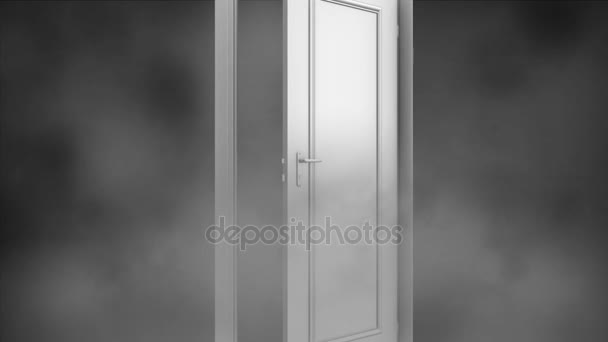 nekonečná dveře. Dveře jsou v husté mlze. Mystic dveře se otevřou