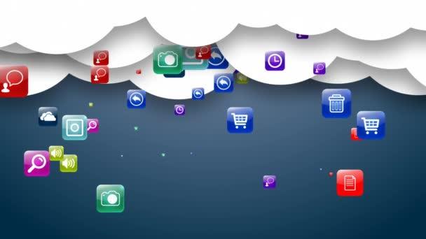 Cloud storage media data. Archive.