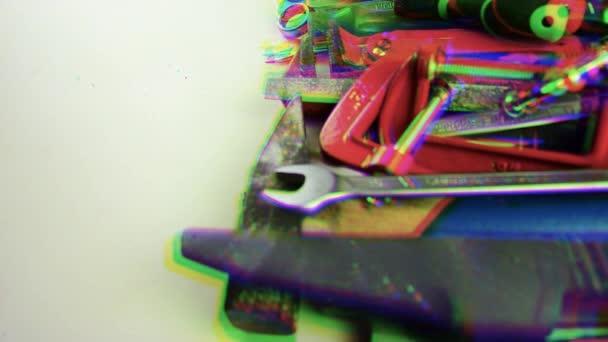 Eszközök. Egy csomó eszköz az asztalon. Home javítás eszközök
