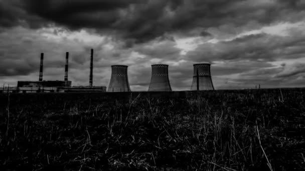 Elektrárna timelapse. Průmyslové území, výrobu elektrické energie. Ecological katastrofa. 59