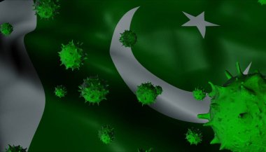 Corona Virus Outbreak with Pakistan Flag - Coronavirus Concept F