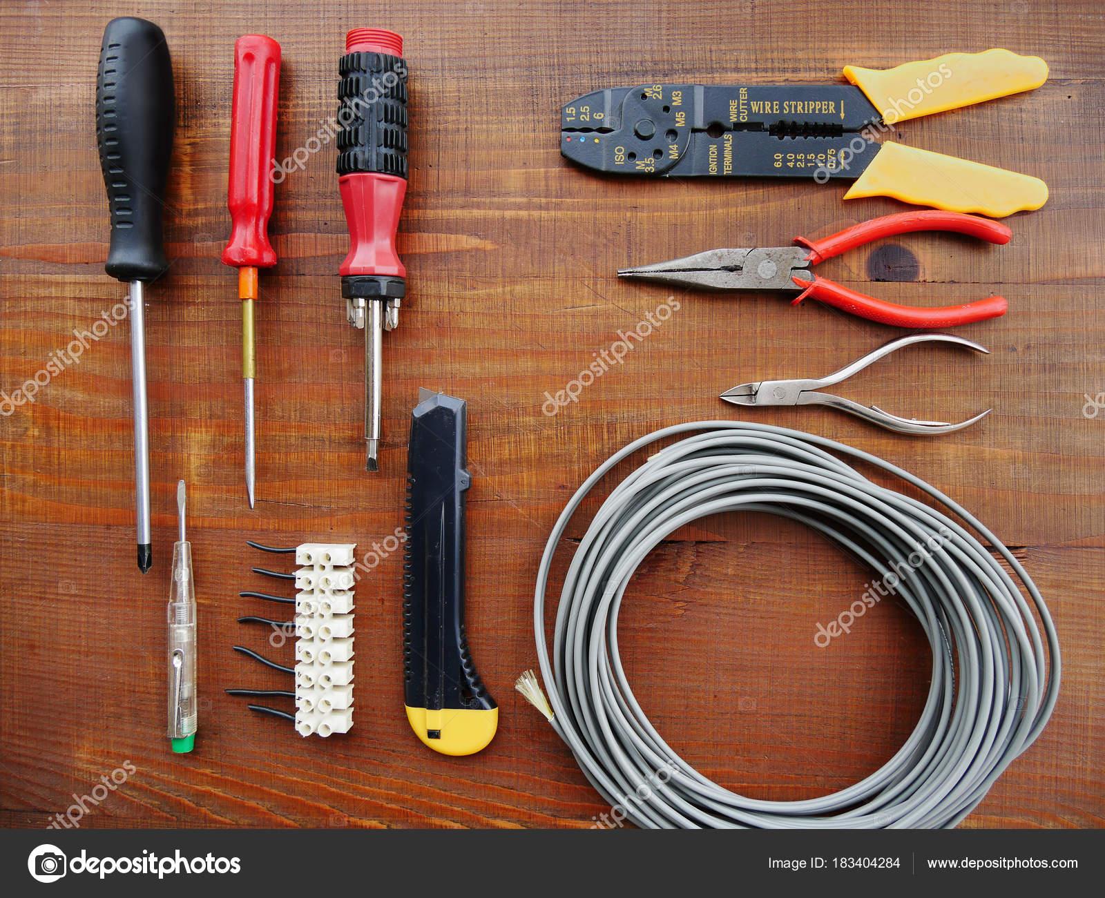 depositphotos_183404284 stock photo vintage hand tools for electricians vintage hand tools for electricians stock photo © whiteaster