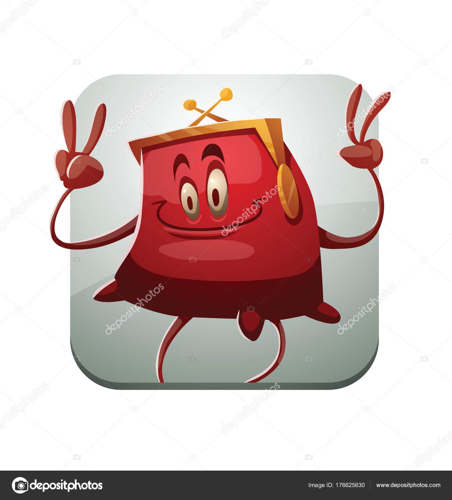 Quadratische Rahmen, lustige rote Handtasche V Anzeichen ...