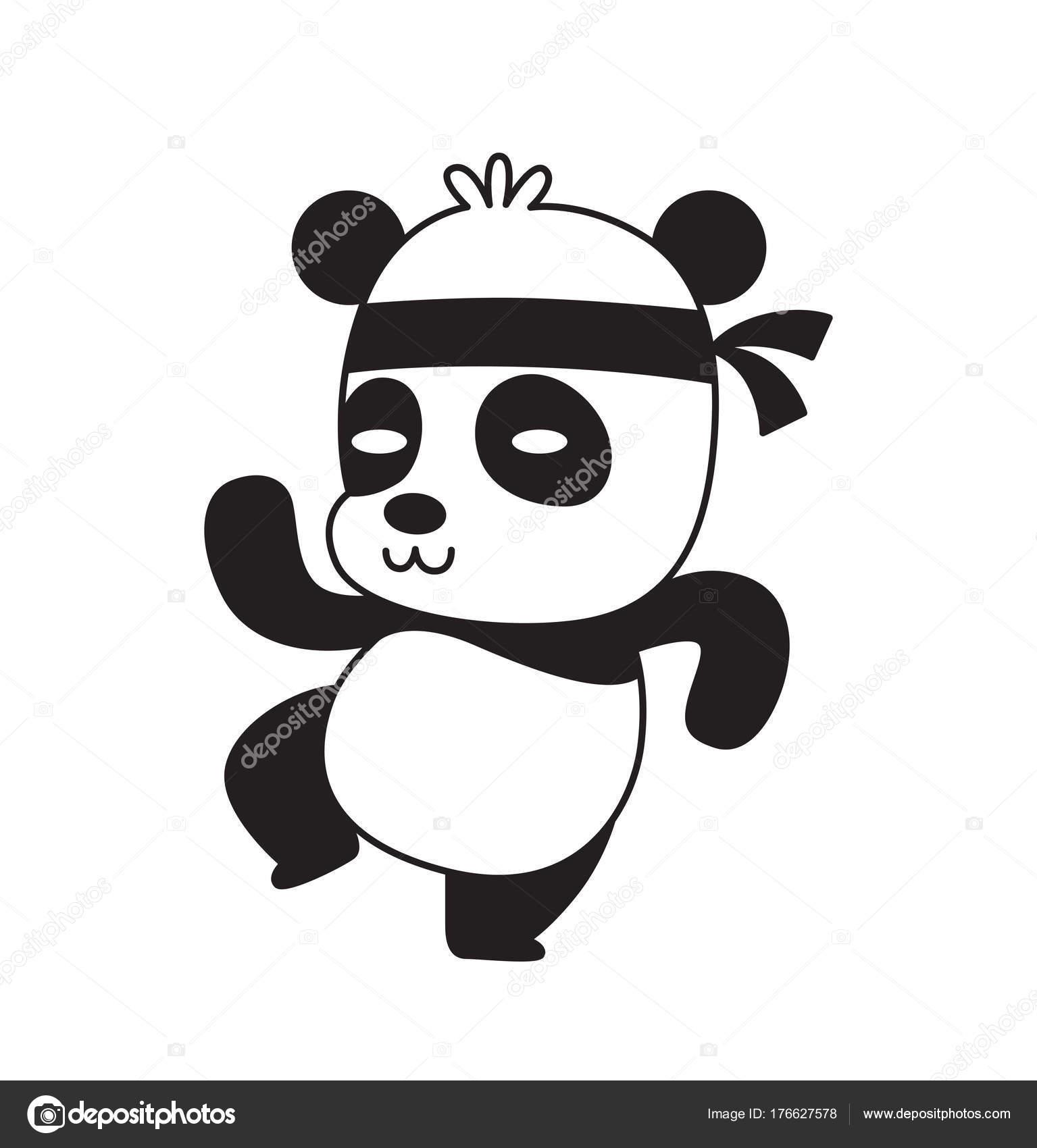 Bonito Pequeno Pé De Panda Kung Fu, Em Pose