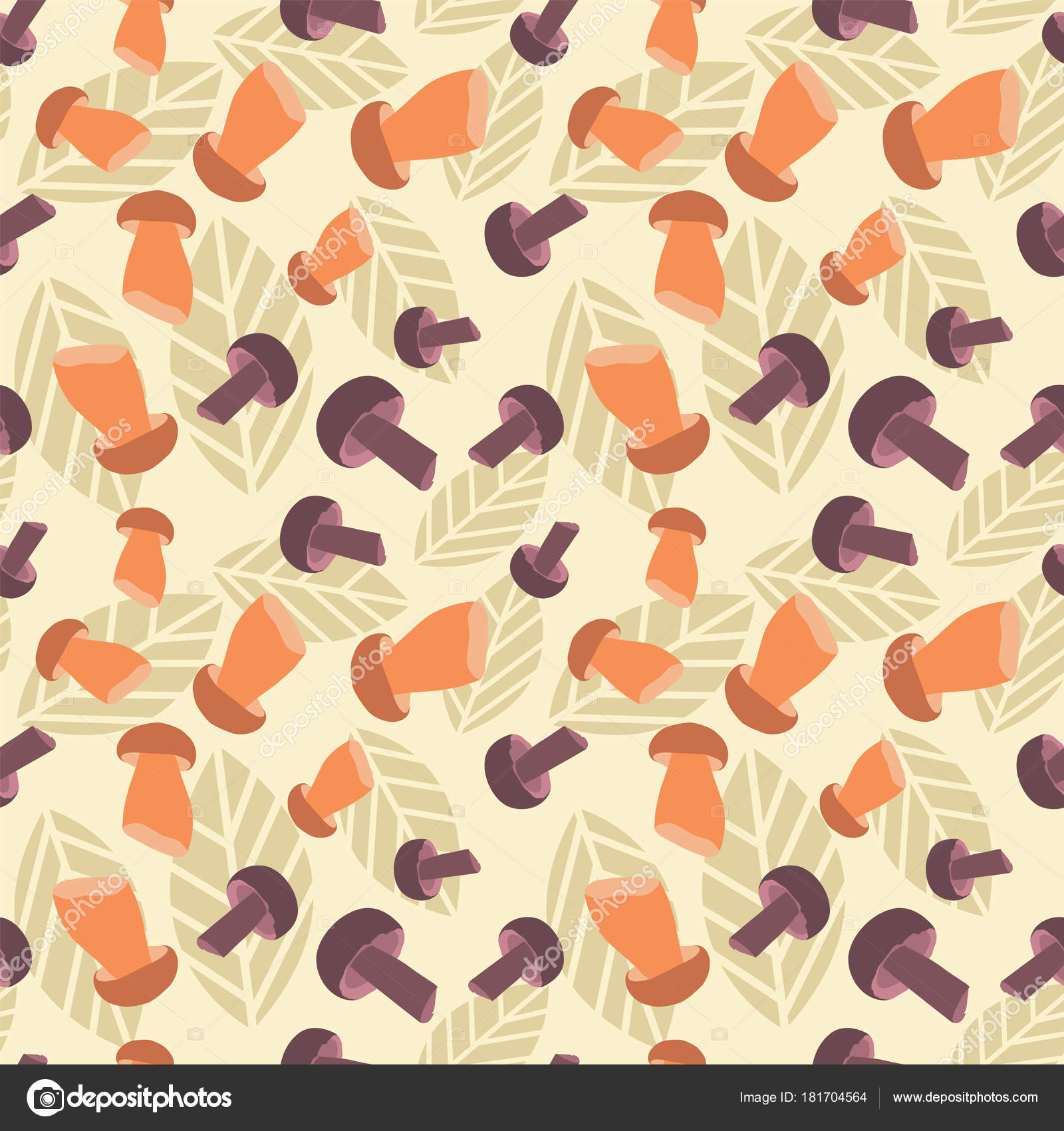 nahtlose bunte muster vektor hintergrund mit pilzen mustertapeten