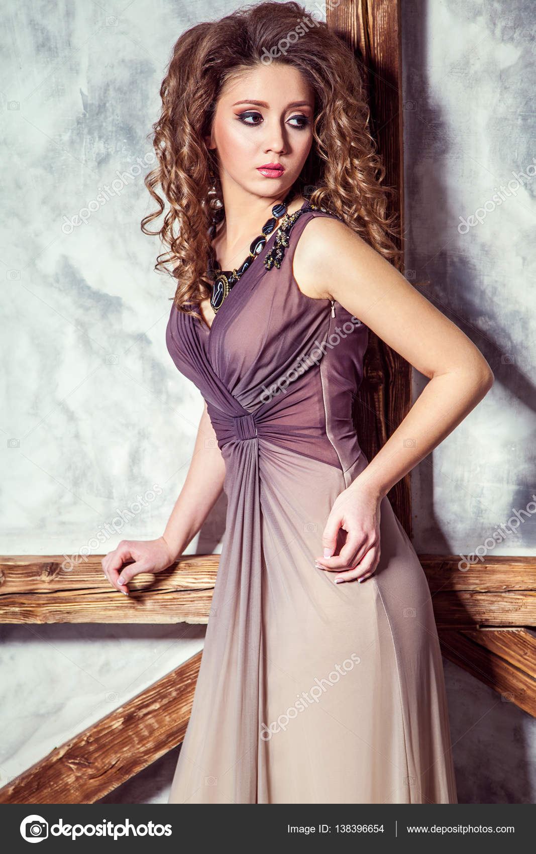 Curly Hairstyle For Party Frock