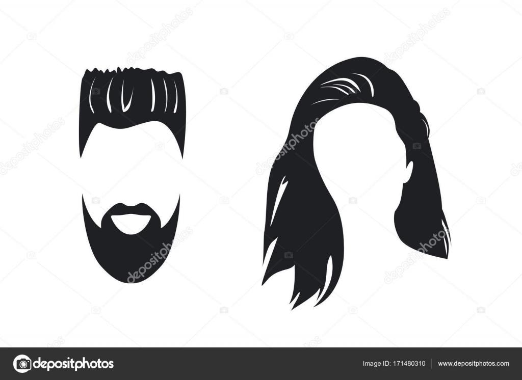 Silueta Hombre Y Mujer: Silueta De Rostro De Hombre Y Mujer