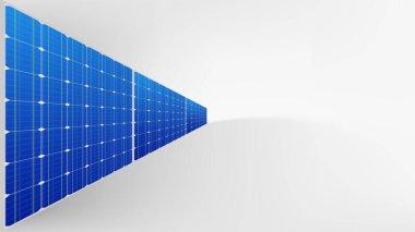 solar panel wall on white