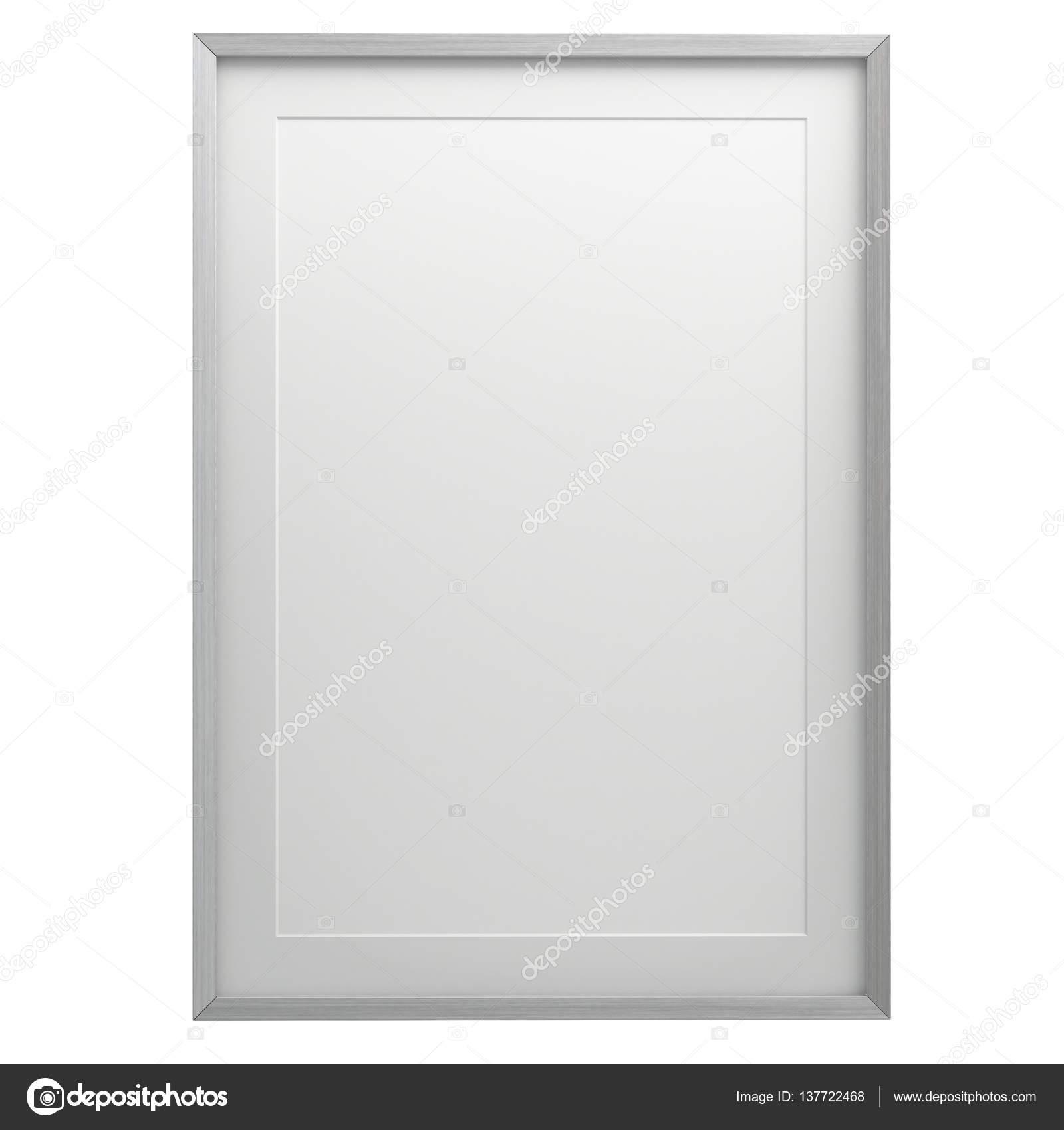 Marco cuadro en blanco aislada del fondo — Fotos de Stock ...