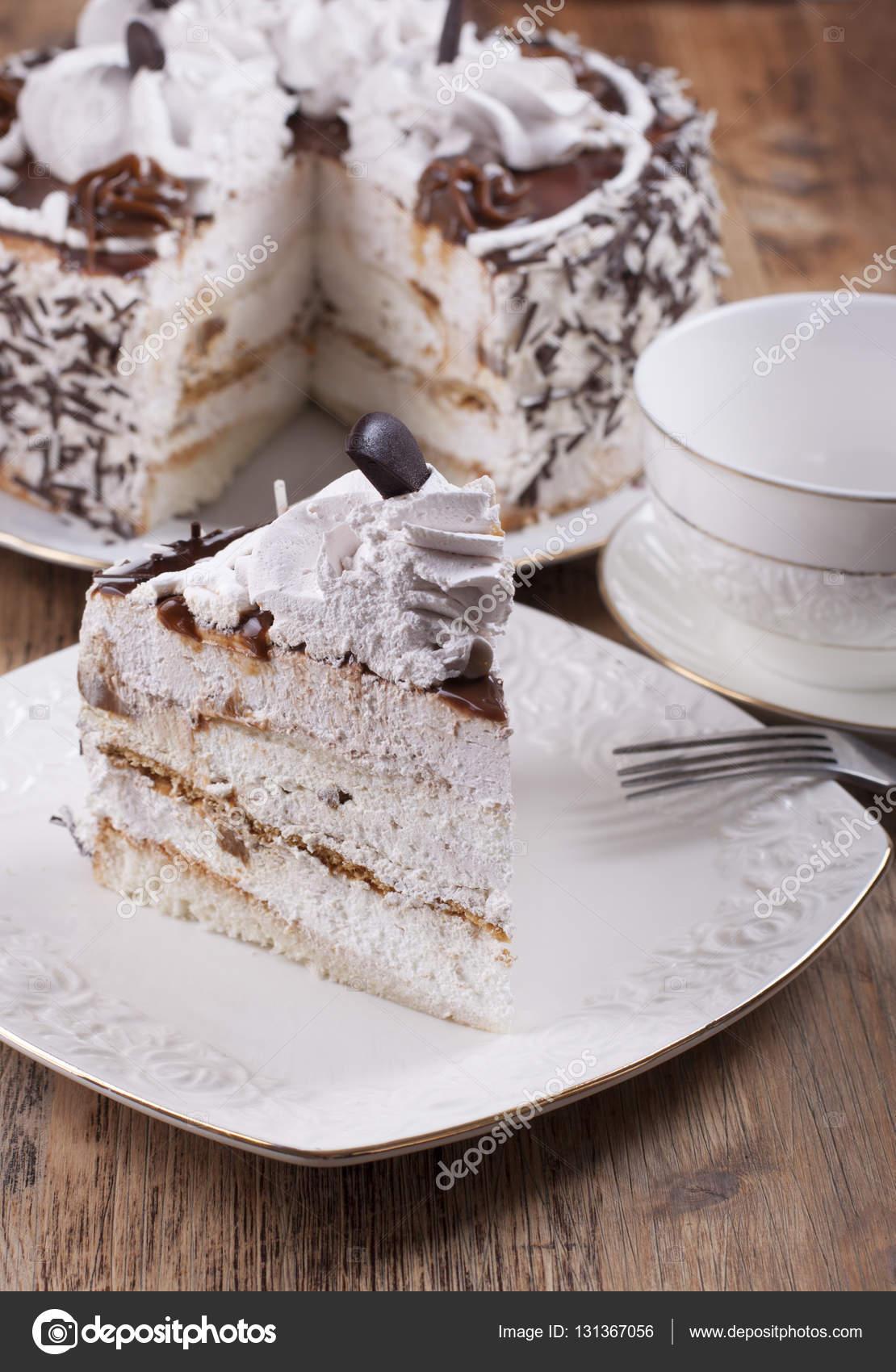 Kuchen Mit Protein Quark Creme Stockfoto C Galene 131367056