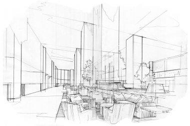 sketch interior perspective