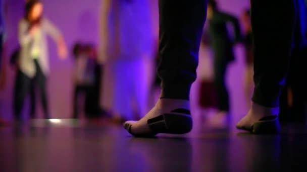 Alacsony szög női láb zokni tánc