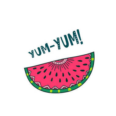 watermelon yum yum card design