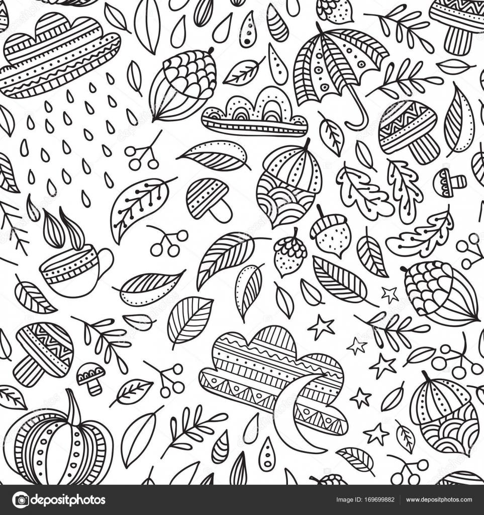 Herbst nahtlose Muster — Stockvektor © samiola #169699882