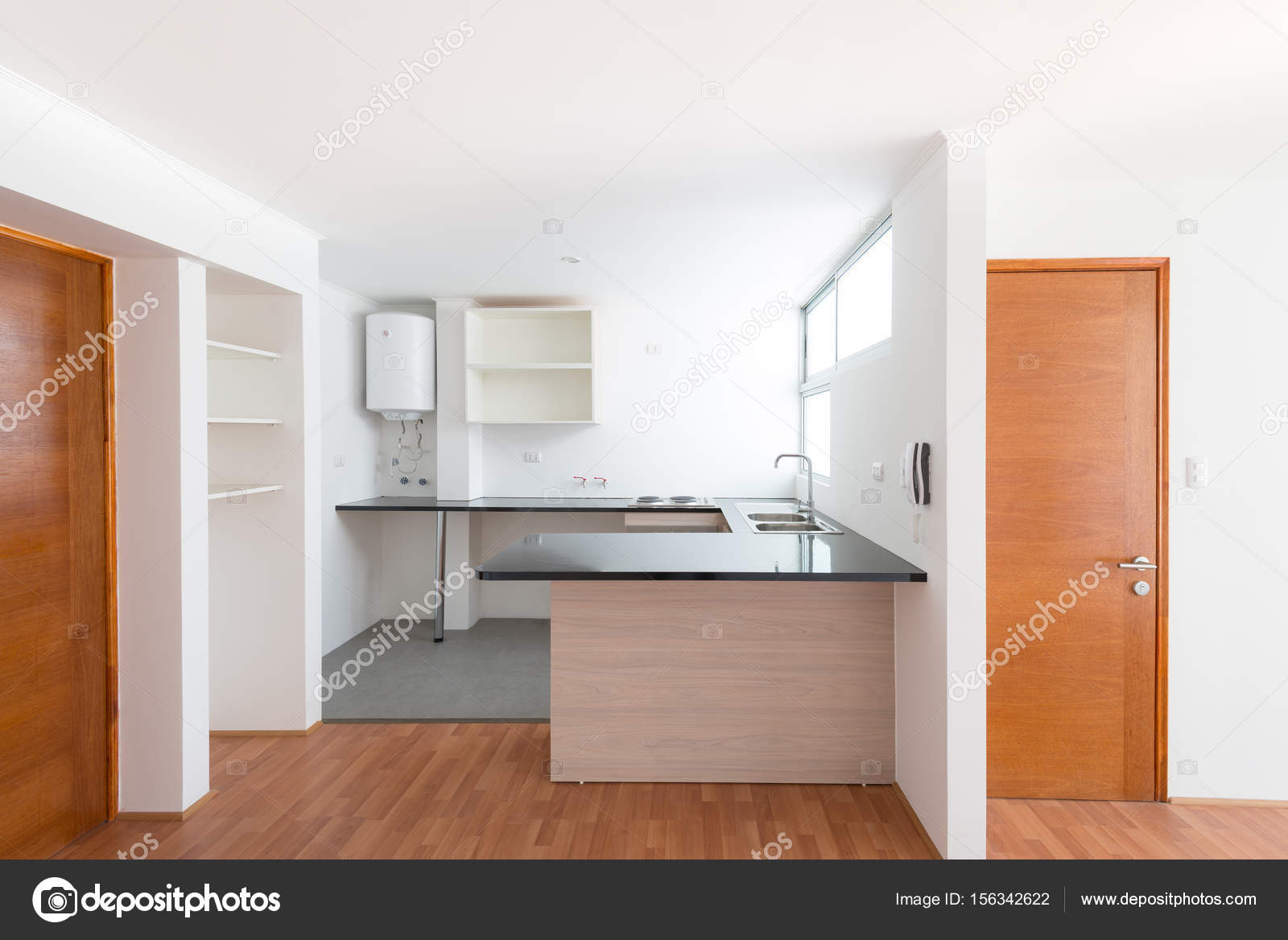 Küche eine kleine Wohnung — Stockfoto © tifonimages #156342622