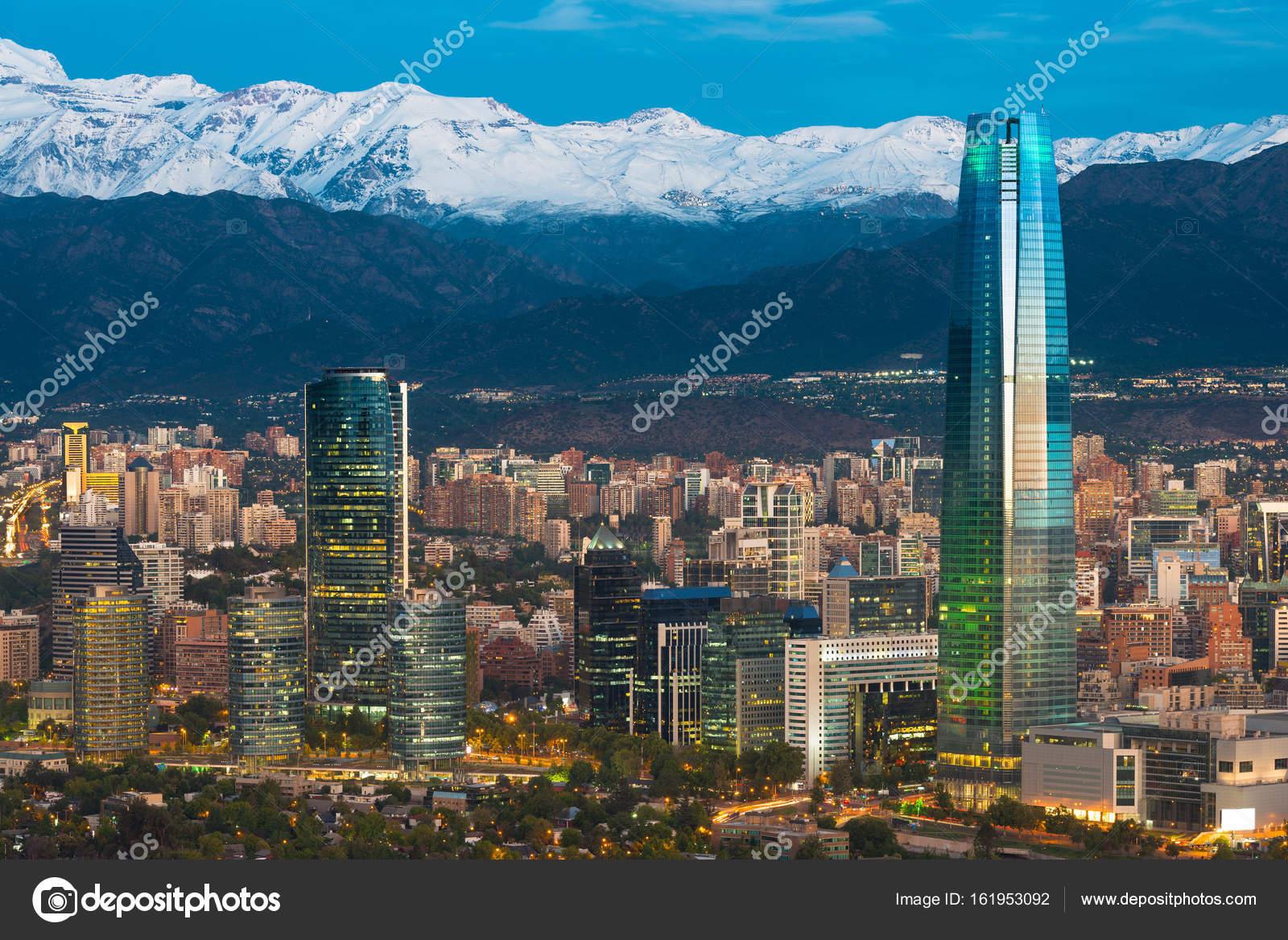 Skyline Von Santiago De Chile Stockfoto Tifonimages 161953092