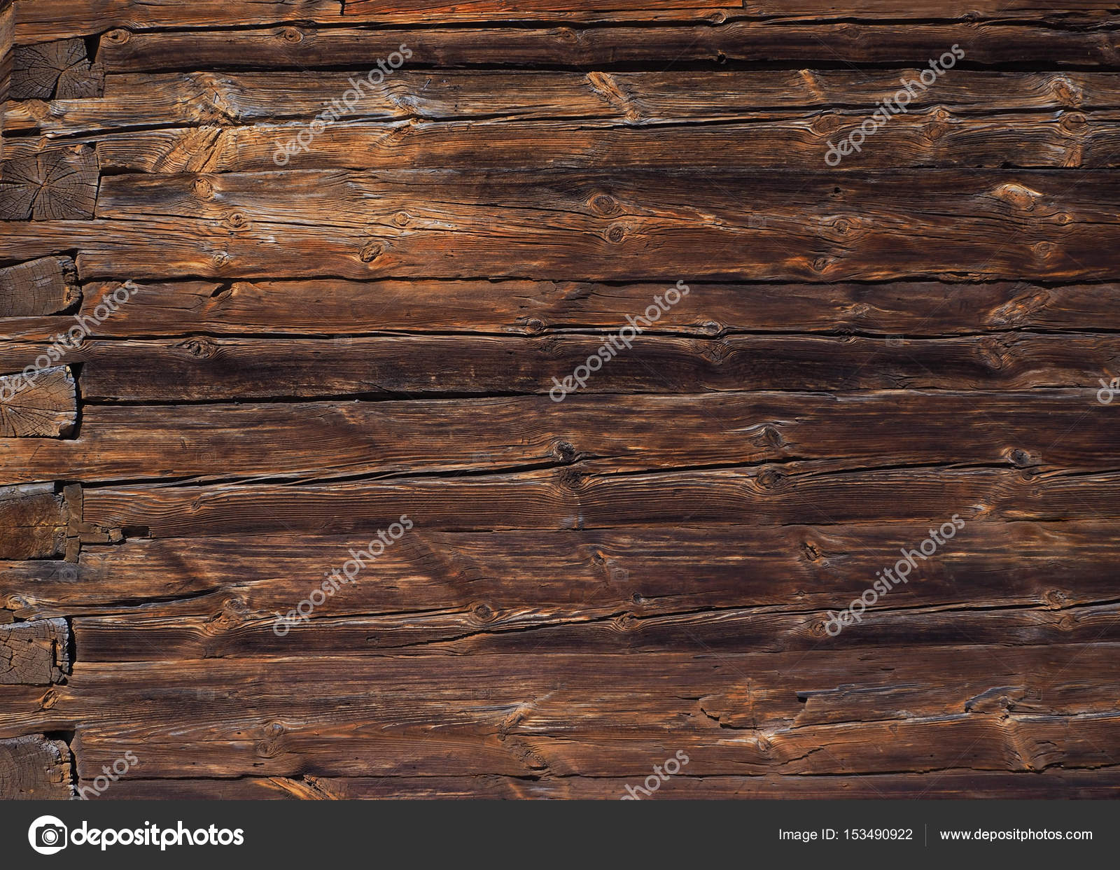 Wood Panel Background Planked Wooden Texture Flat Lay Photo Design Stock