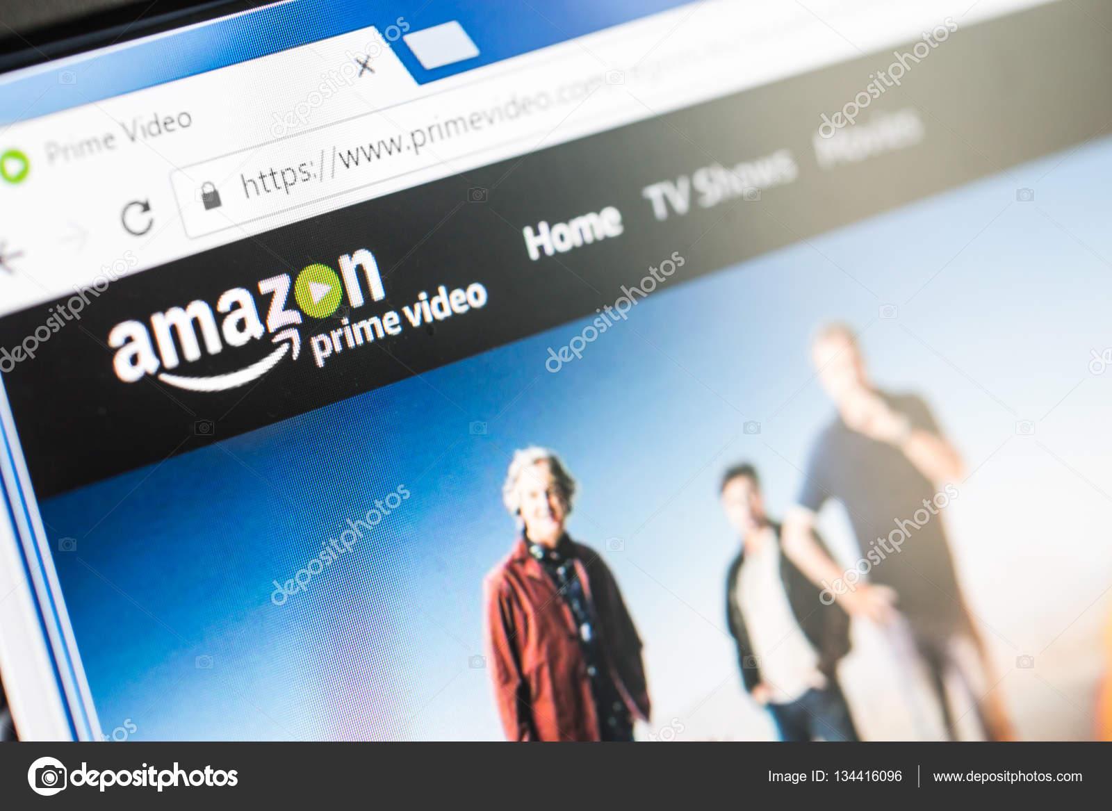 ce32d2958 Paris, França - 15 de dezembro de 2016: Amazon Prime a página inicial do  site. Amazônia, é uma americana de comércio eletrônica e a empresa de  computação de ...