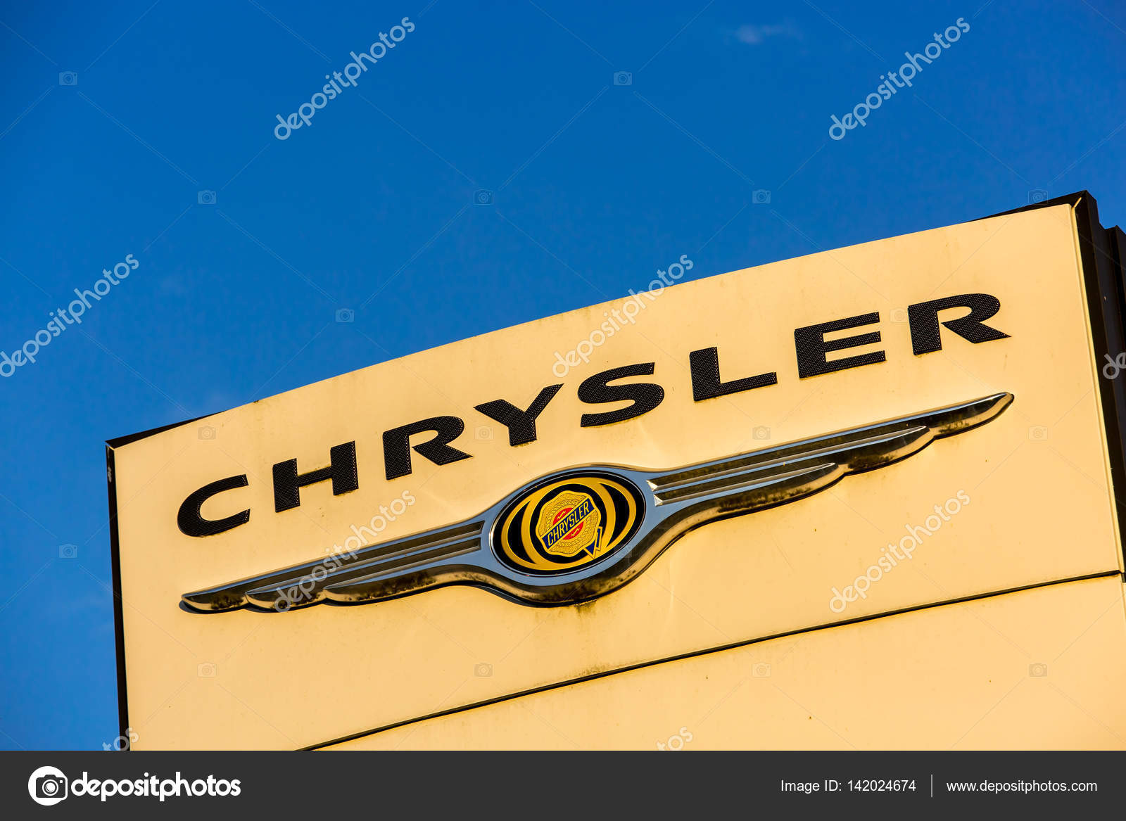 La rochelle france august 30 2016 official dealership sign of la rochelle france august 30 2016 official dealership sign of chrysler against biocorpaavc Choice Image