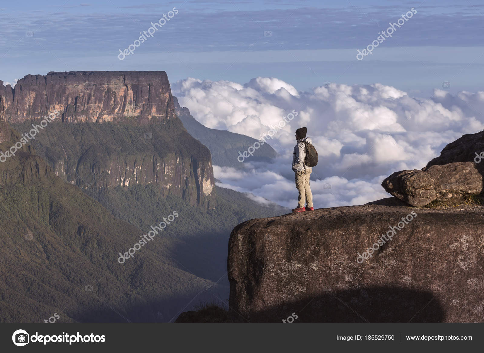 La Ventana Die Berge Roraima Und Kukenan Venezuela Stockfoto