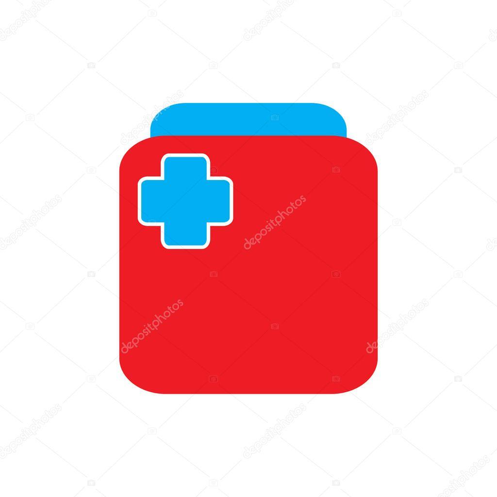 Medical Bag medical pack logo design vector icon