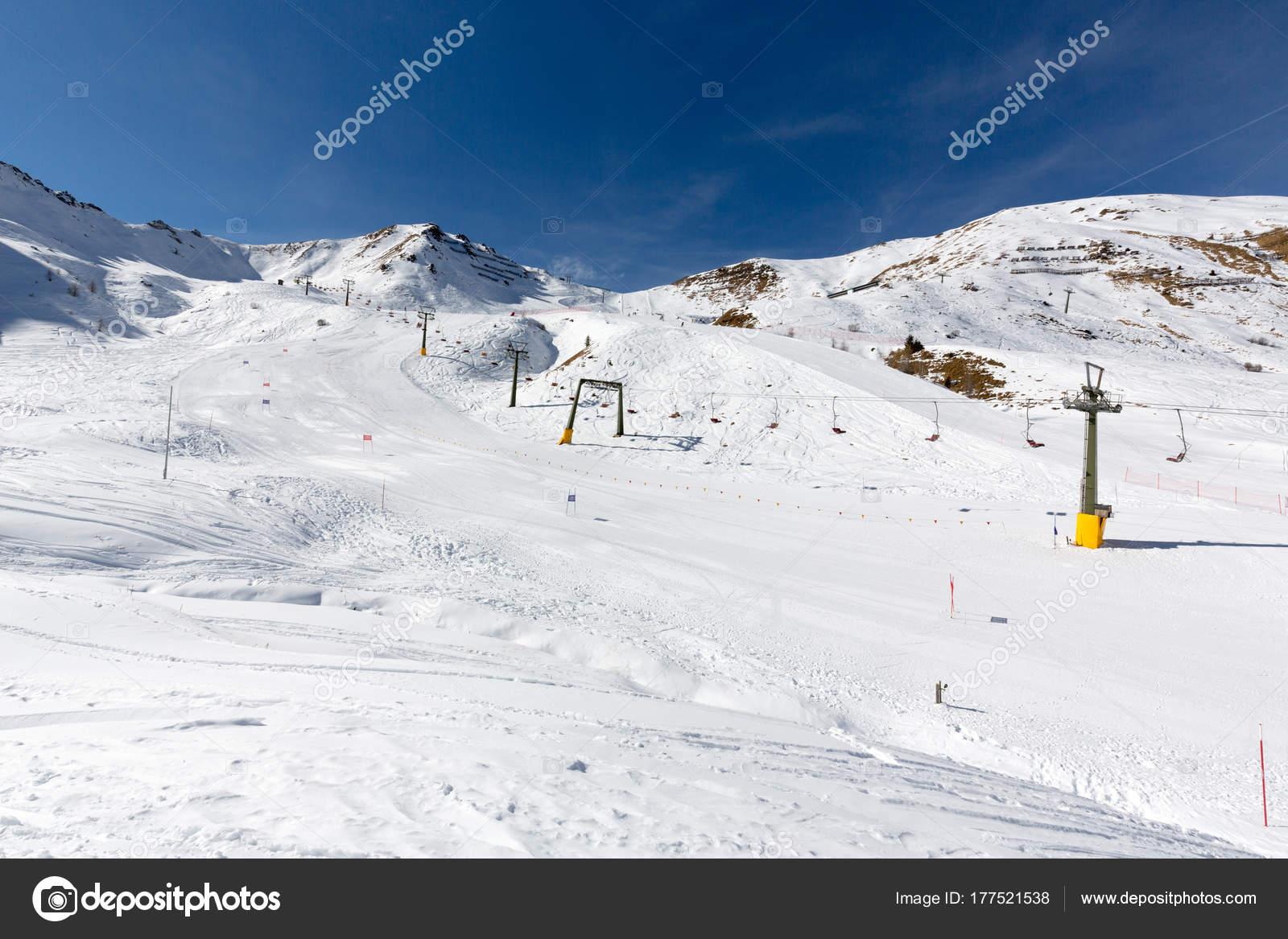 ciampac ski resort, val di fassa valley, dolomites, italy — stock