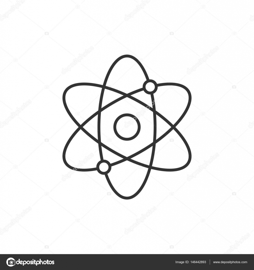 Atomic structure line icon stock vector pixelalex 146442893 atomic structure line icon on white background vector by pixelalex ccuart Image collections