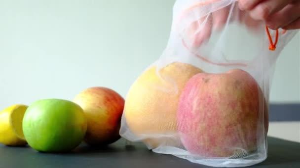 síťový sáček na ovoce a zeleninu