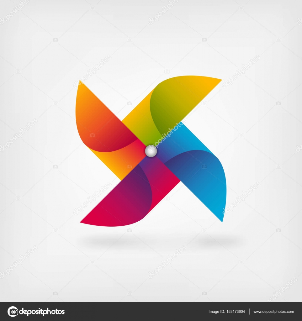 Pinwheel symbol in rainbow colors stock vector natbasil 153173604 pinwheel symbol in rainbow colors vector illustration eps 10 vector by natbasil biocorpaavc
