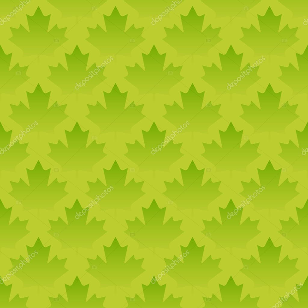 green maple leaves seamless pattern