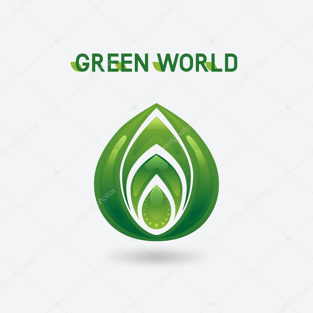 abstract green eco symbol