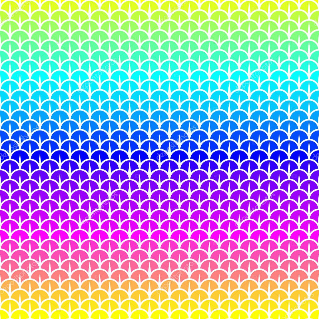 scales seamless pattern in rainbow colors