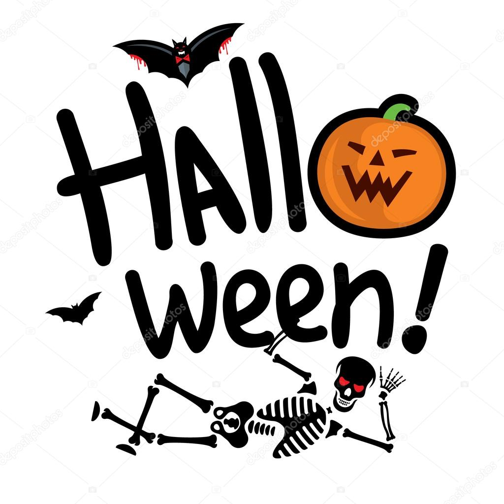 Esqueleto de Halloween vector ilustración de dibujos animados ...