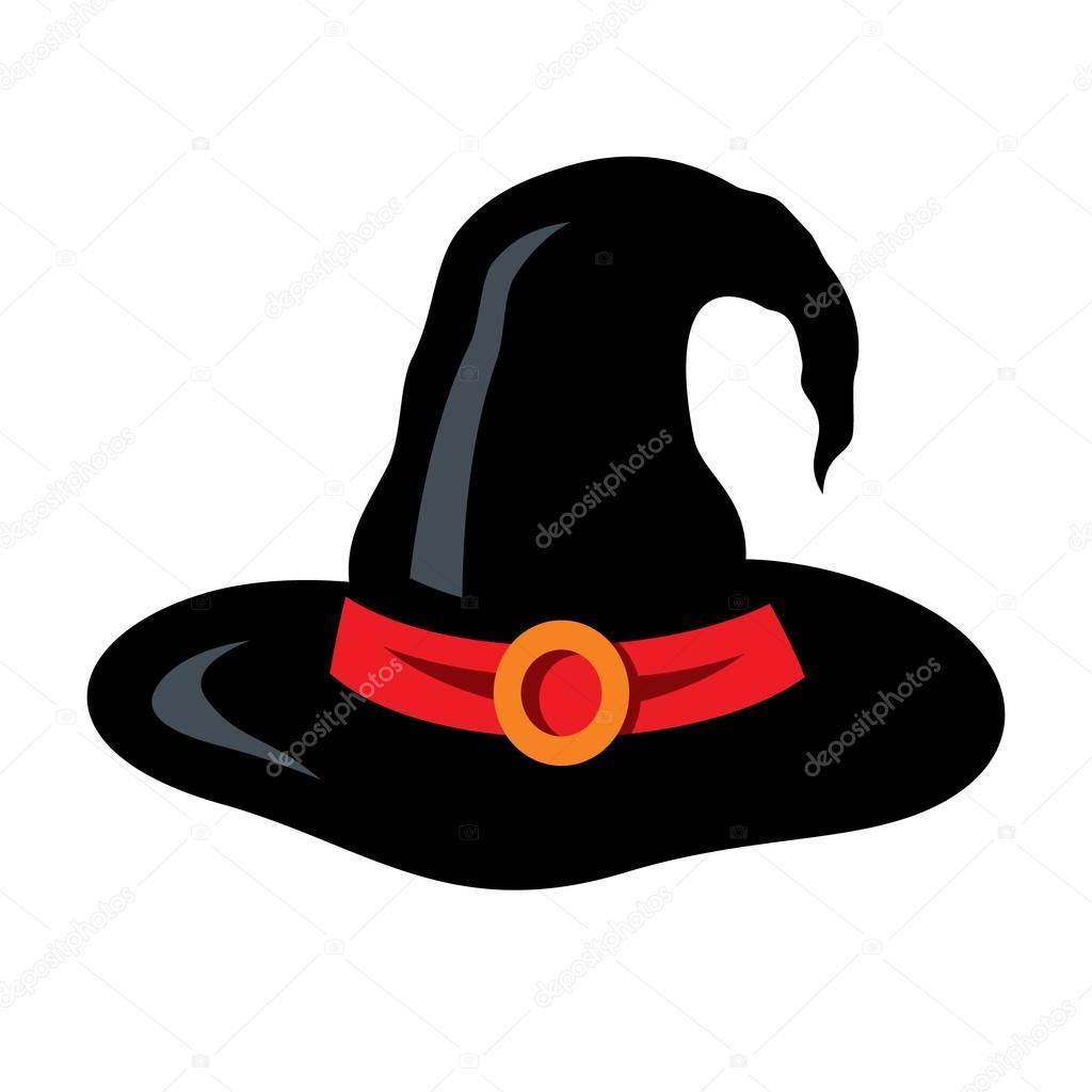 Sombrero de bruja de Halloween vector ilustración de dibujos animados —  Vector de stock a9bf3b09ec9