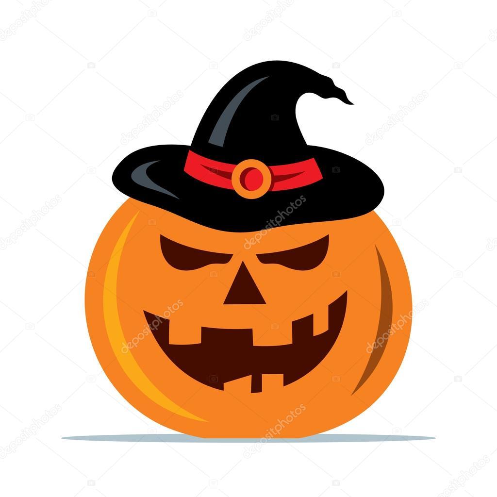 Dibujos Calabaza De Halloween Animada Vector Ilustracion De - Calabazas-animadas