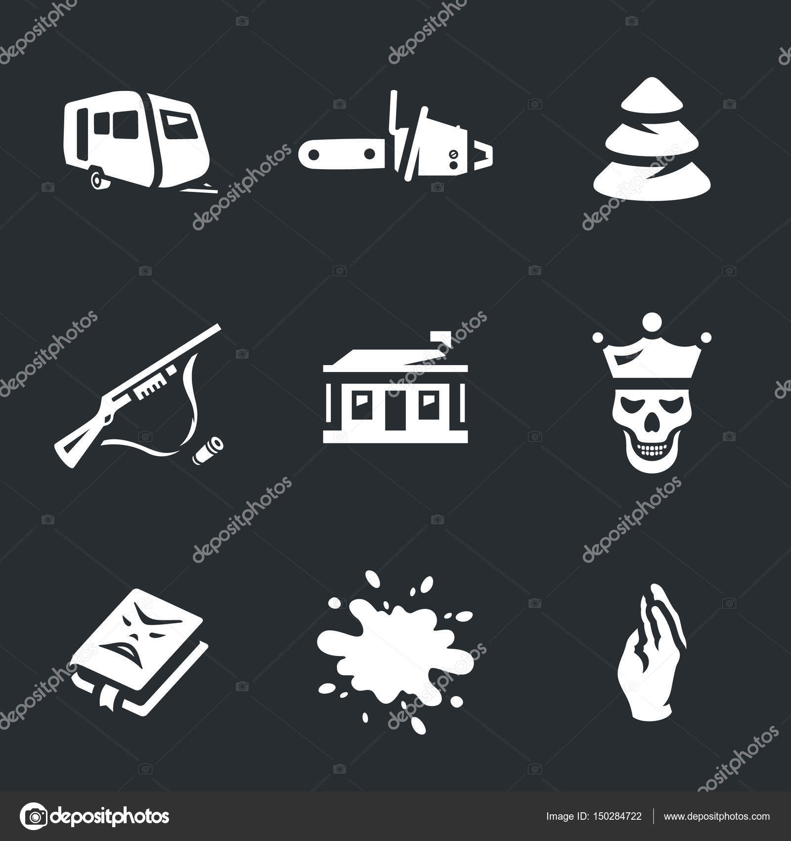 Vector Set D Icones De L Horreur Image Vectorielle