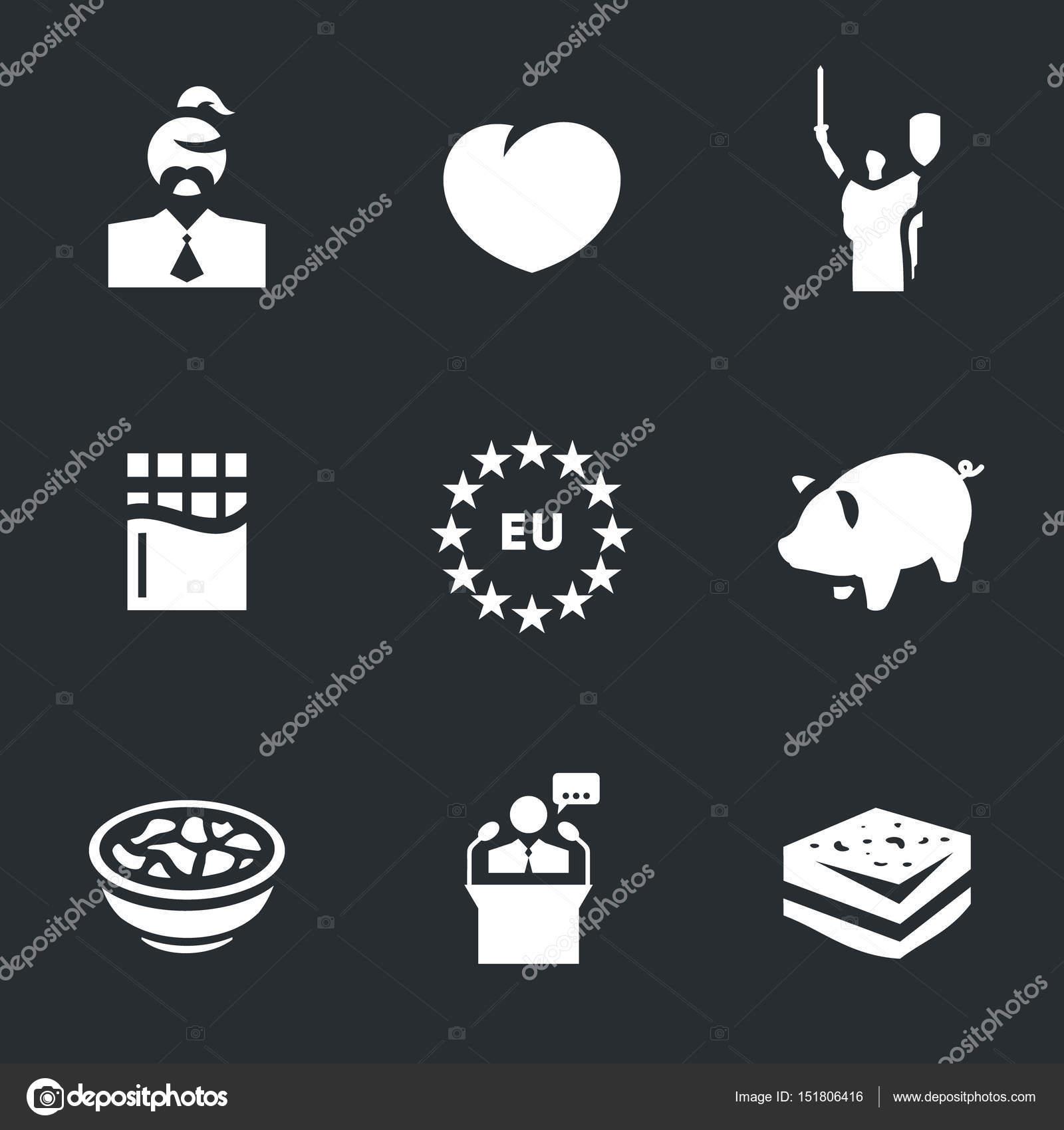 Vektor-Set von Ukraine Icons — Stockvektor © steinar14 #151806416