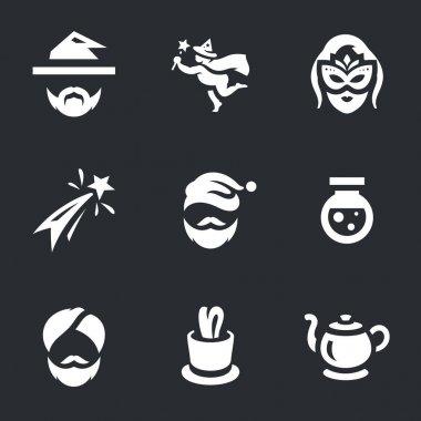 Vector Set of Magic Icons.