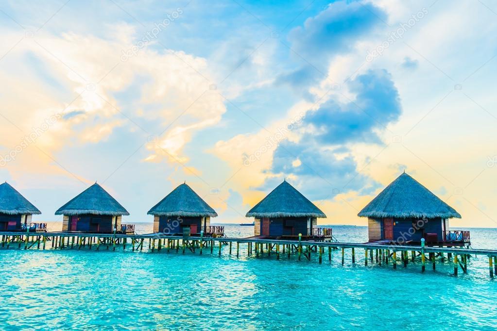 Maldives Island Resort Hotel Stock Photo C Mrsiraphol