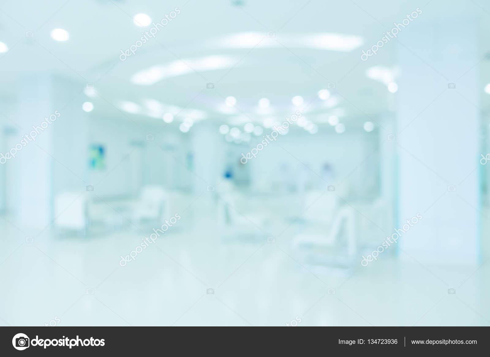 Interieur Ice Blauw : Abstract vervagen ziekenhuis en kliniek interieur u2014 stockfoto