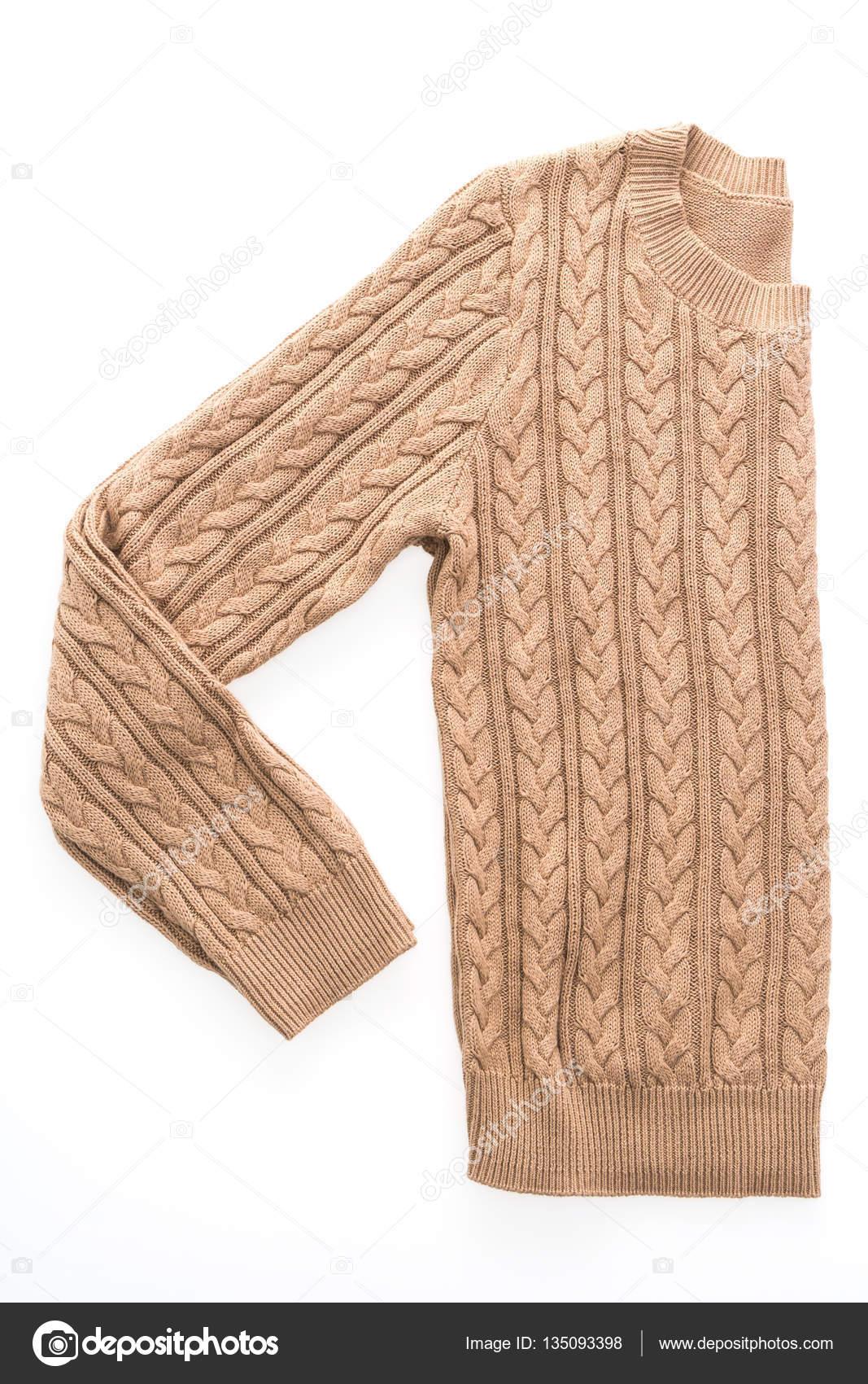 ffd64c868 Moda blusas roupas para temporada de inverno isolada no fundo branco — Foto  de ...