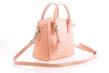 Beautiful elegance and luxury fashion pink women handbag