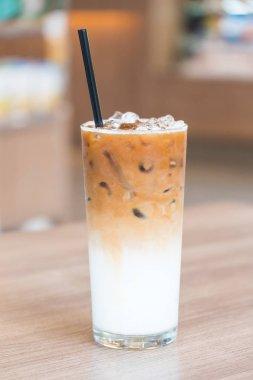 Iced latte coffee